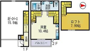 ガレージハウス・図面